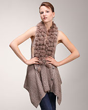 Fur Trim Design Sweater Cardigan