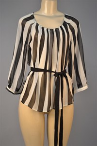 Black and Cream Stripe Shirt
