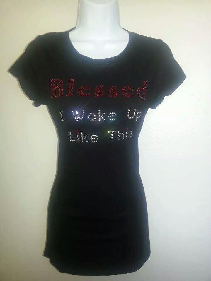 Bling Tee - BLESSED I Woke Up Like This