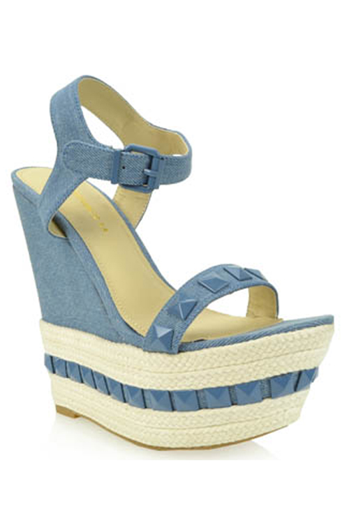 Demi Denim Wedge Heel Sandal