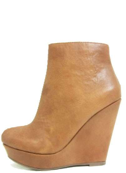 Tan Dolly-S Wedge Heel Boot