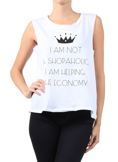 Shopaholic Muscle Tank Shirt